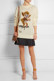 Buster le Fauve intarsia knitted sweater