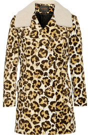 Le Fauve shearling-trimmed printed faux fur coat