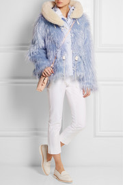 Snorkel shearling-trimmed faux fur jacket