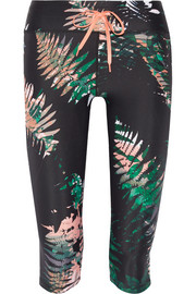 Power Pant printed stretch-jersey leggings