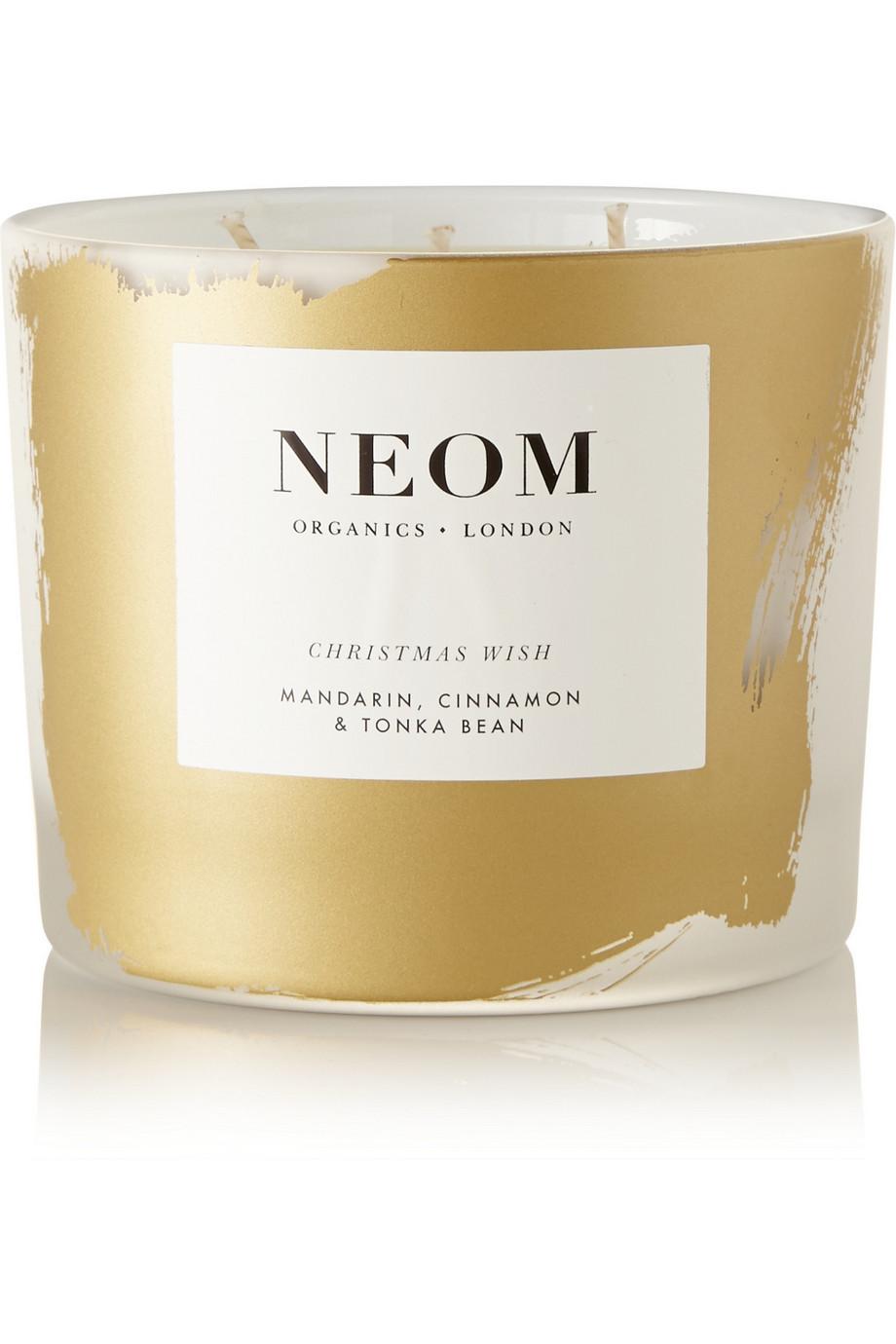 Neom Organics Christmas Wish Mandarin, Cinnamon and Tonka Bean Scented Candle, 330g