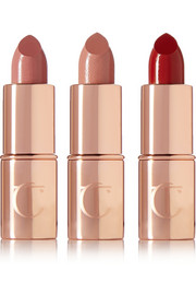 Charlotte Tilbury Mini Lipstick Charms -  B*itch Perfect, Penelope Pink and So Marilyn
