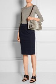 Nancy Gonzalez Crocodile-trimmed python shoulder bag