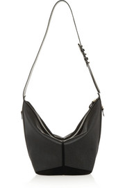 Abel textured-leather and suede tote