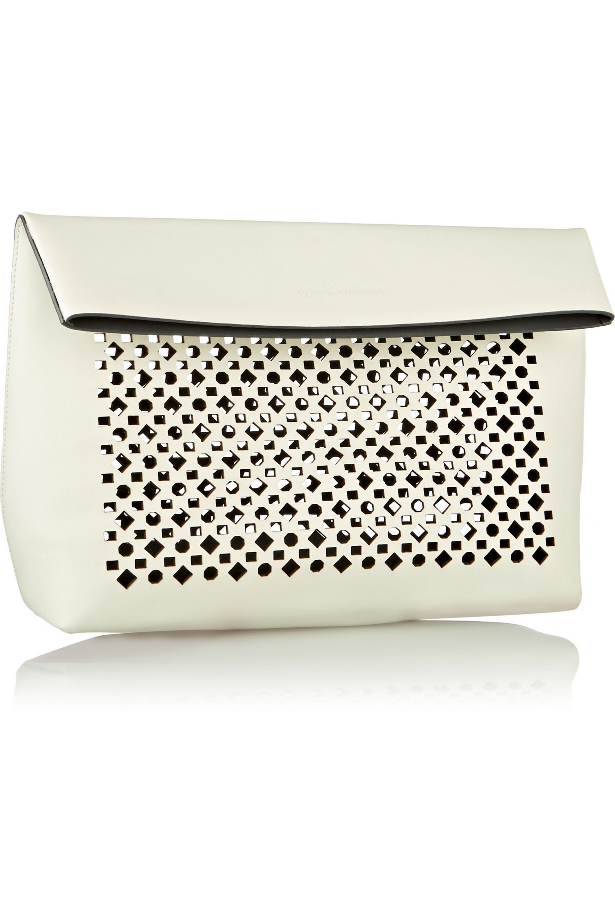 Sophie Anderson Abril laser-cut leather clutch