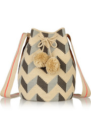 Lilia crocheted cotton shoulder bag