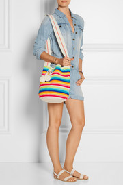 Sophie Anderson Lilla crocheted cotton bucket bag