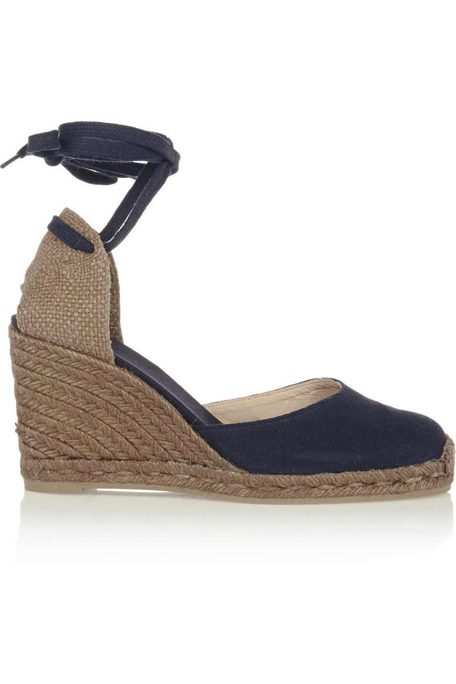 Castañer Carina Canvas Wedge Espadrilles, Navy, Women's US Size: 4.5, Size: 35