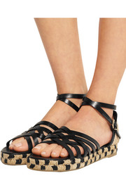 Rita leather and canvas espadrille sandals