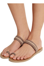 Cabarete braided leather sandals