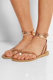 Malabar metallic leather sandals