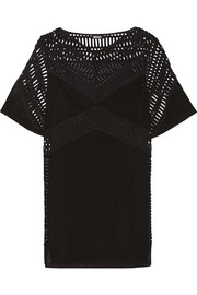 DKNY Eyelet cotton mini dress