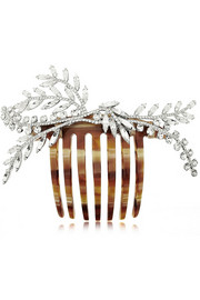 Grand Laurel Swarovski crystal-embellished hair comb