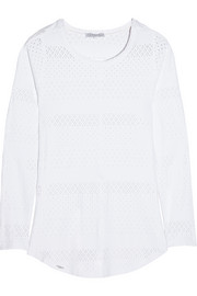 L'Etoile Sport Textured stretch-jersey top
