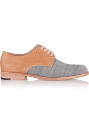 Esquivel Leather and canvas brogues