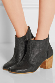 Jill wrinkled-leather ankle boots