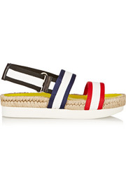 Mondrian jute-trimmed canvas platform sandals