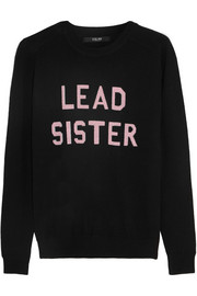 Lead Sister intarsia merino wool sweater