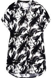 Cannes printed jersey coverup