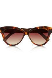 Cat eye acetate and glossed-elaphe sunglasses
