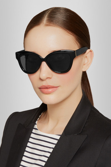 0a67ca68ef3f Linda Farrow. Cat eye elaphe and acetate sunglasses