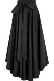 Cotton-poplin skirt