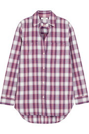 Ex-Boyfriend plaid cotton shirt