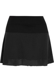 Flounce stretch-jersey tennis skirt