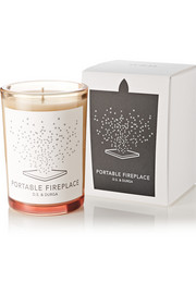 Portable Fireplace scented candle