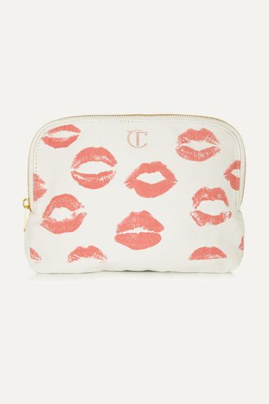 Charlotte Tilbury - Printed Cotton-canvas Cosmetics Case - White