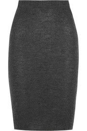 Cashmere pencil skirt