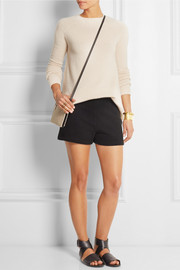 Woven cashmere shorts