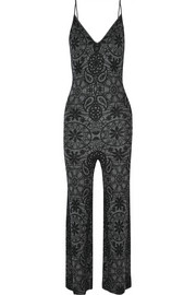 The Elder Statesman Intarsia cashmere jumpsuit