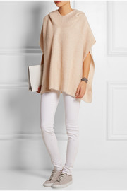 Effa cashmere and silk-blend poncho