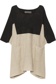 The Elder Statesman Guatemala two-tone cashmere dress