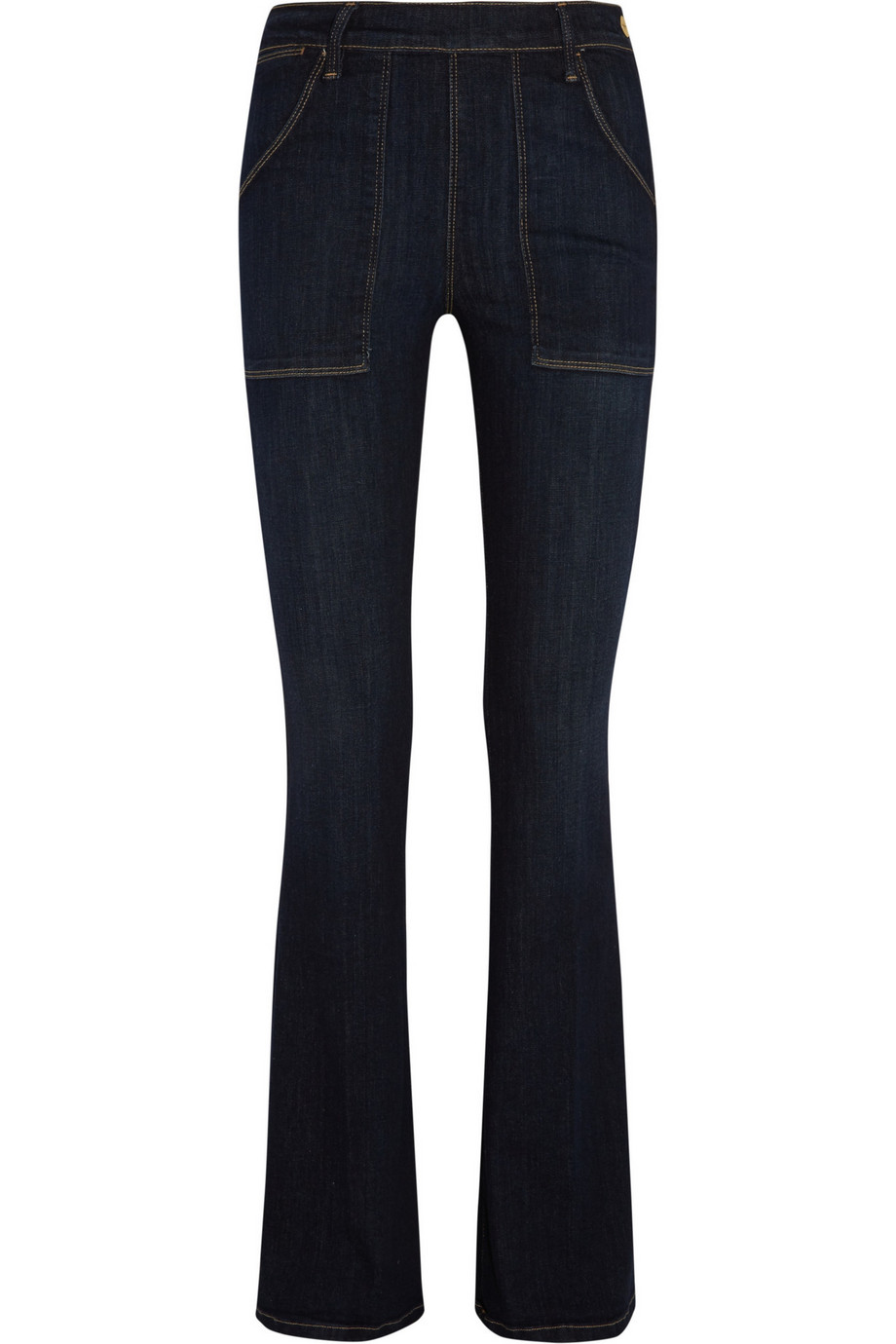 Frame Denim Le Flare De Francoise High-Rise Jeans, Dark Denim, Women's, Size: 26