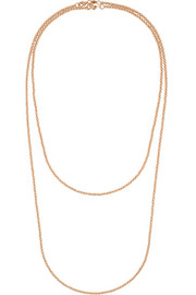 18-karat rose gold necklace