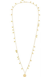 Virtue 18-karat gold diamond charm necklace
