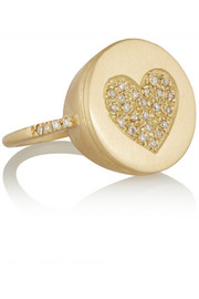 Lucky Diamonds 18-karat gold diamond ring