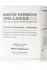 David Kirsch Wellness Co. Raspberry Vitamin Mineral Powder (30 sachets)