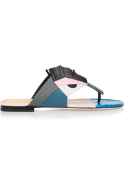 Fendi Bugs leather sandals