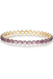 Ippolita Lollipop 18-karat gold amethyst bangle