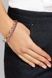 Lollipop 18-karat gold amethyst bangle