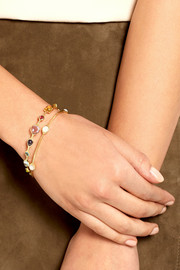Lollipop 18-karat gold mother-of-pearl bracelet