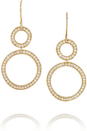 Glamazon Snowman 18-karat gold diamond earrings