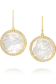 Lollipop 18-karat gold, mother-of-pearl and diamond earrings