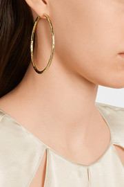 Glamazon 18-karat gold hoop earrings