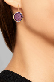 Lollipop 18-karat gold amethyst earrings