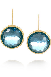Lollipop 18-karat gold topaz earrings