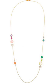Rock Candy Gelato 18-karat gold multi-stone necklace